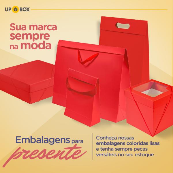 embalagem vermelha