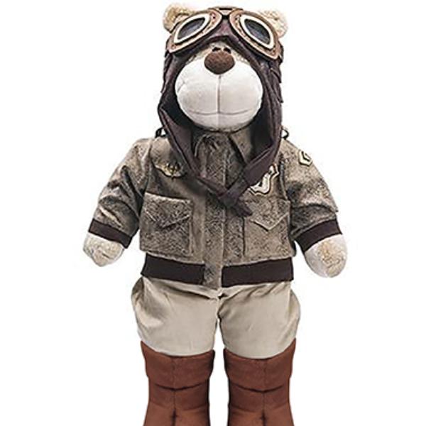 Urso de Pelúcia Bochecha Aviador Antigo 2